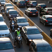 There is evidence of motorcycle lane splitting to be good everyone on the road.