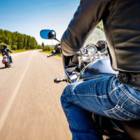 Motorcycle road guards are legal in Minnesota when traveling in larger groups.