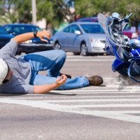 Hit and run motorcycle accidents can be dangerous such as the one shown above.