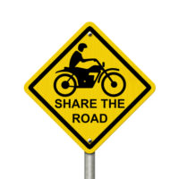 Sign that promotes measures related to motorcycle safety enforcement operations