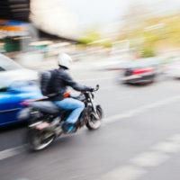 Motorcycle lane splitting legal in California