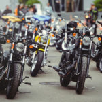 A bunch of motorcycles