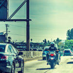 Police officer on motorcycle in Los Angeles
