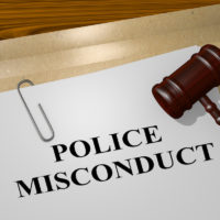 File that reads police misconduct