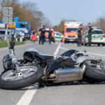 flipped motorcycle after accident