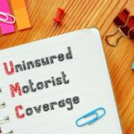 Financial concept about Uninsured Motorist Coverage UM Definition with inscription on the piece of paper.